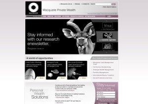 Macquarie Private Wealth home page