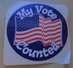US Election Sticker