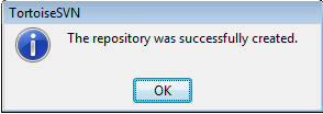 Repository created successfully