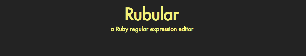 Rubular & RubyMine: makes Cucumber easier