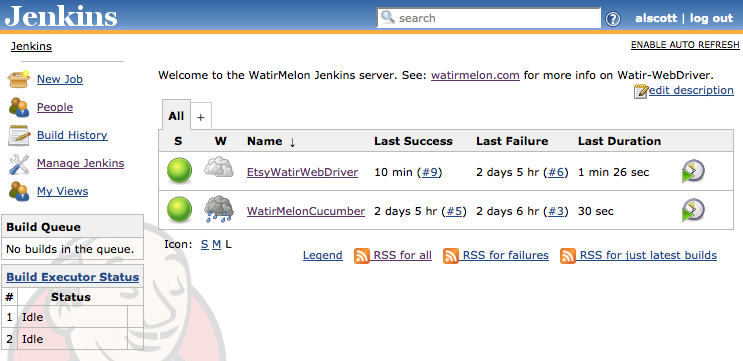 Jenkins Dashboard – WatirMelon