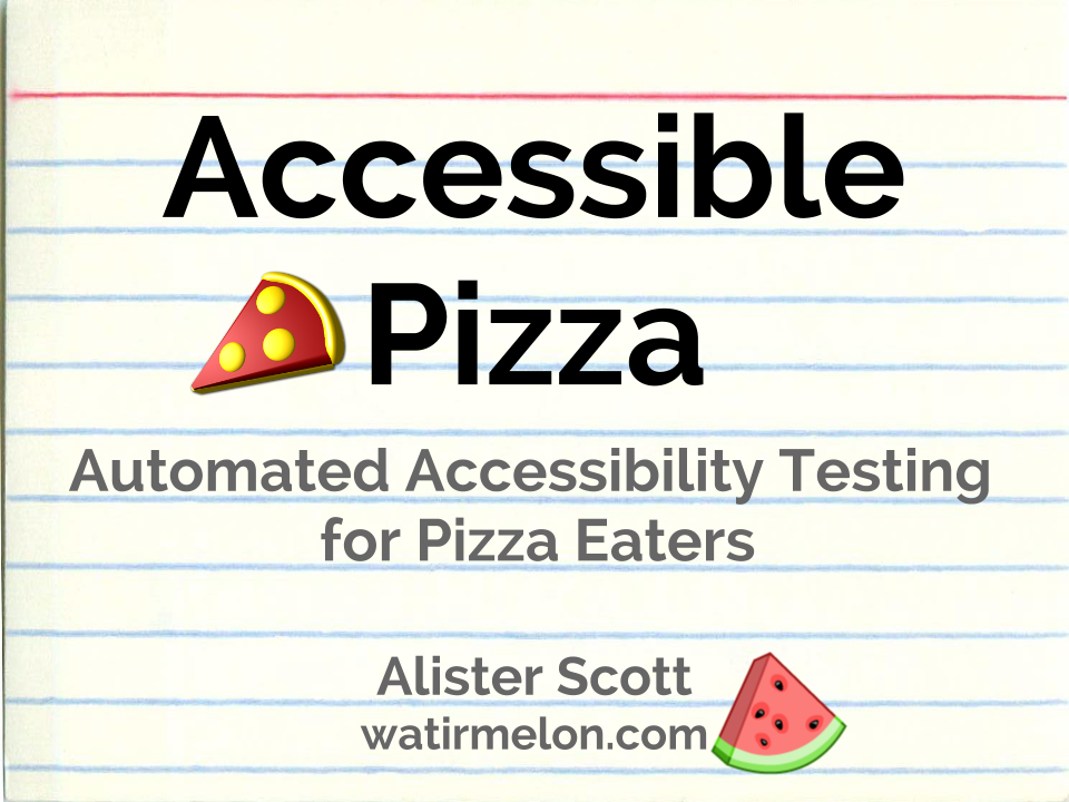 Accessible Pizza