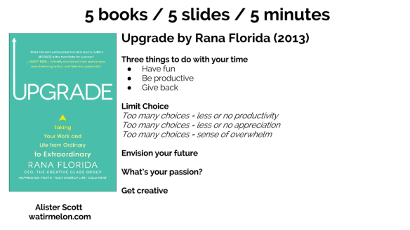 5 books - 5 slides - 5 minutes (3)