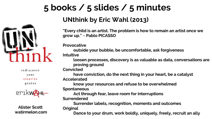 5 books - 5 slides - 5 minutes