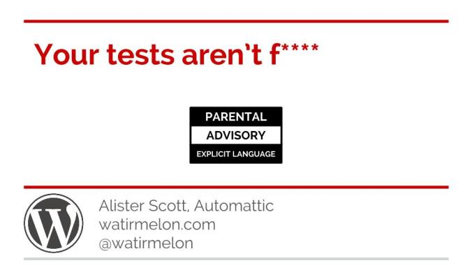 Your tests aren't flaky