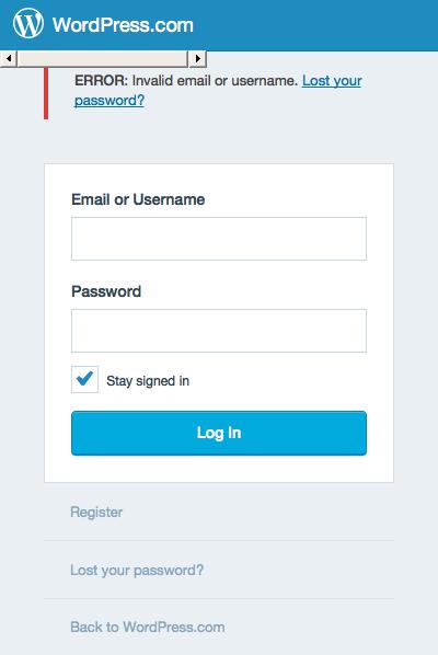 The WordPress.com login page error when running via PhantomJS 2.0